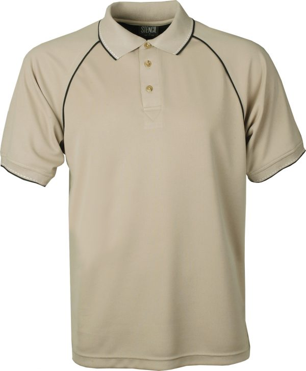 THE ORIGINAL COOL DRY POLO S/S - 1010 - Beige/Navy/White
