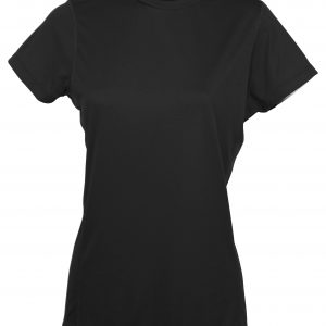 LADIES COMPETITOR T-SHIRT S/S - 7113 - Black