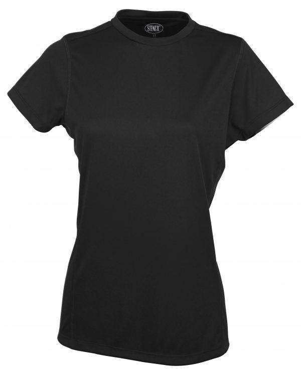 LADIES COMPETITOR T-SHIRT S/S - 7113 - Black