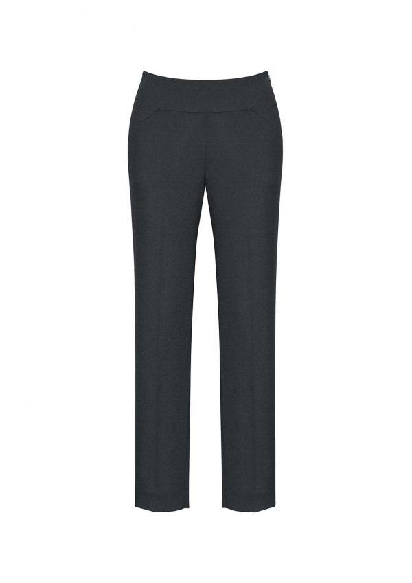 Womens Bandless Slim Leg Pant - Charcoal