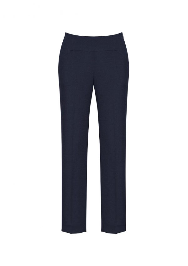 Womens Bandless Slim Leg Pant - Navy