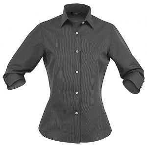 LADIES EMPIRE SHIRT 3/4S - 2132 - Charcoal/Grey