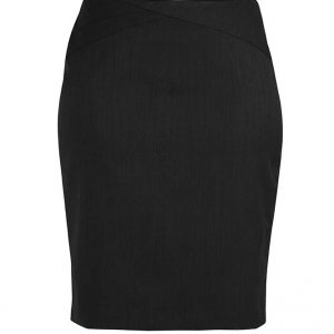 Womens Chevron Skirt - Black