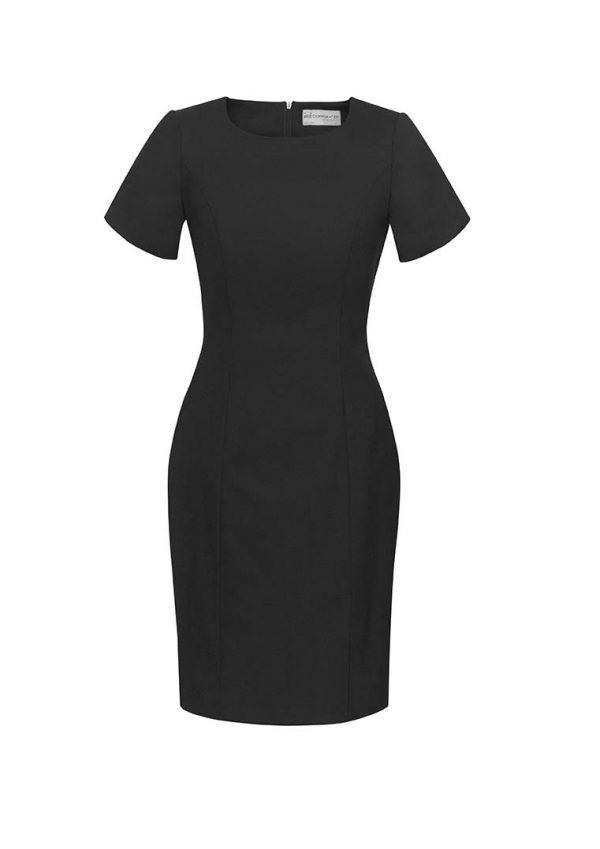 Womens Short Sleeve Dress - Black
