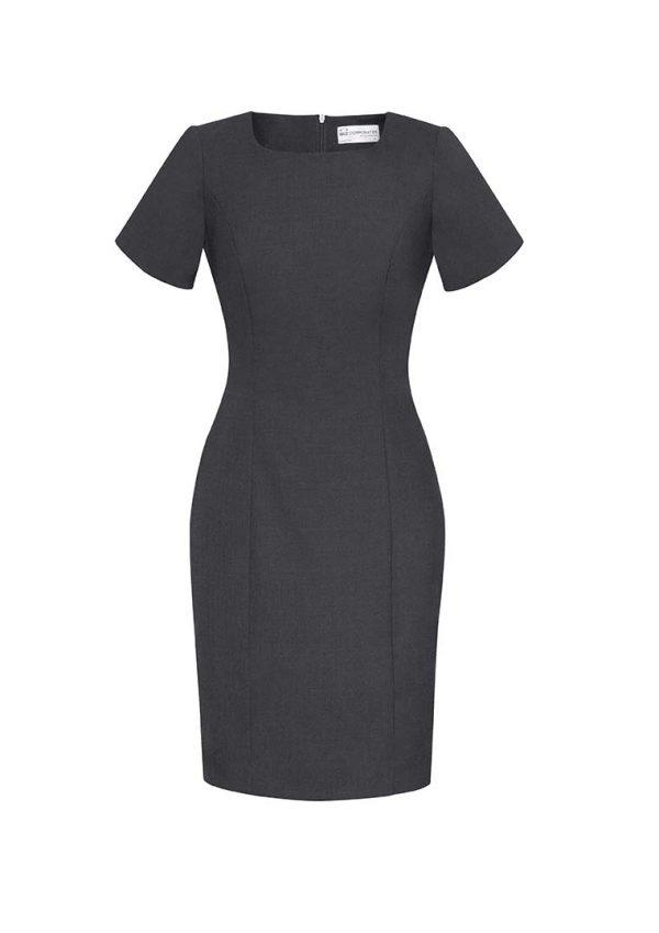 Womens Short Sleeve Dress - Charcoal