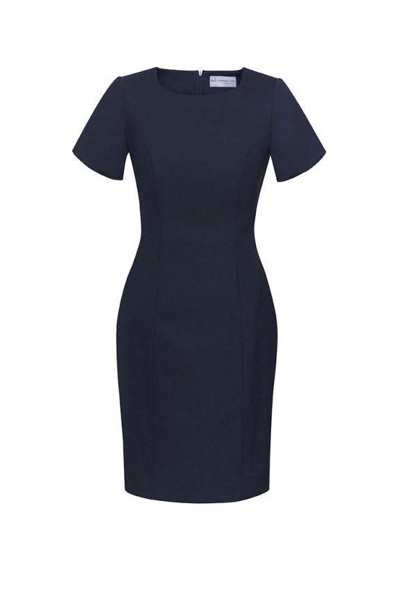 Womens Short Sleeve Dress - Navy