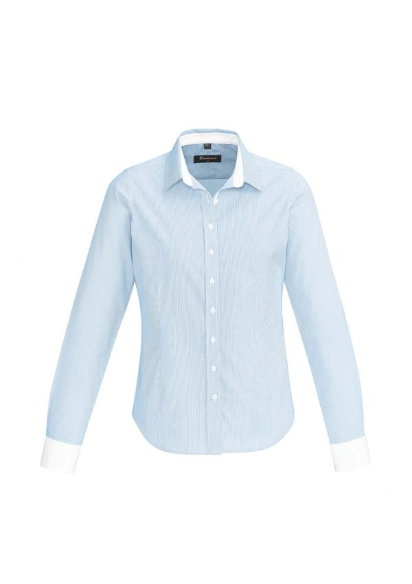 Womens Fifth Avenue Long Sleeve Shirt - Alaskan Blue