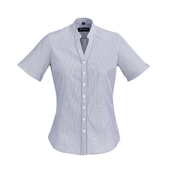 Womens Bordeaux Short Sleeve Shirt - Patriot Blue