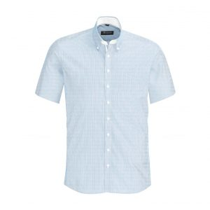 Mens Fifth Avenue Short Sleeve Shirt - Alaskan Blue