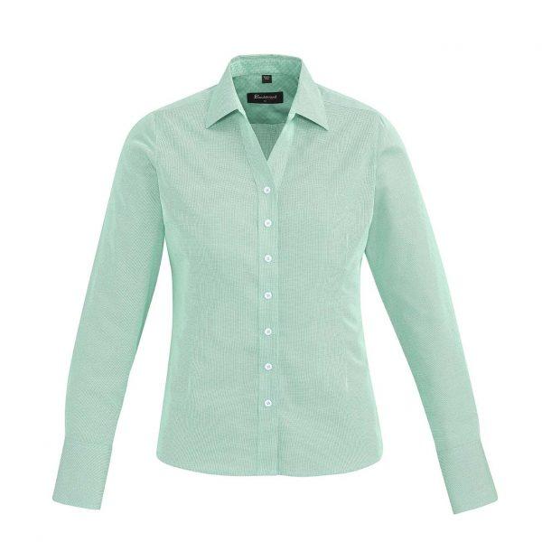 Womens Hudson Long Sleeve Shirt - Dynasty Green