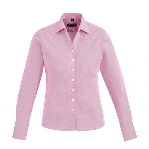 Womens Hudson Long Sleeve Shirt - Melon