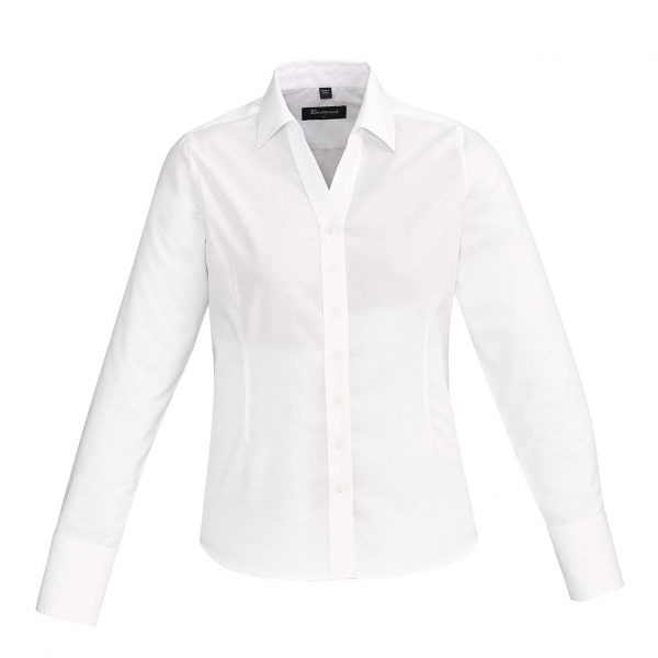 Womens Hudson Long Sleeve Shirt - White