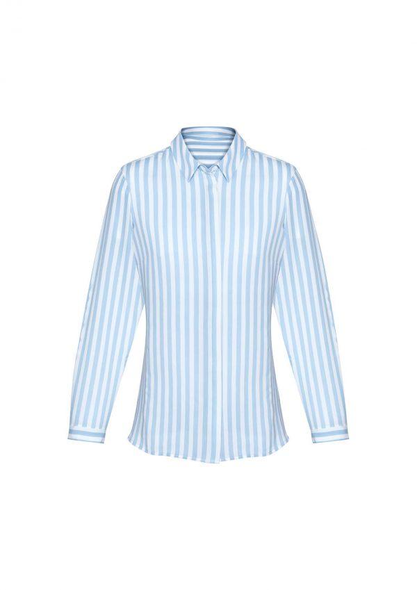 Womens Verona Long Sleeve Blouse - Alaskan Blue