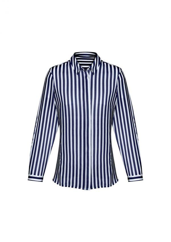 Womens Verona Long Sleeve Blouse - Navy