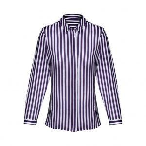 Womens Verona Long Sleeve Blouse - Purple Reign