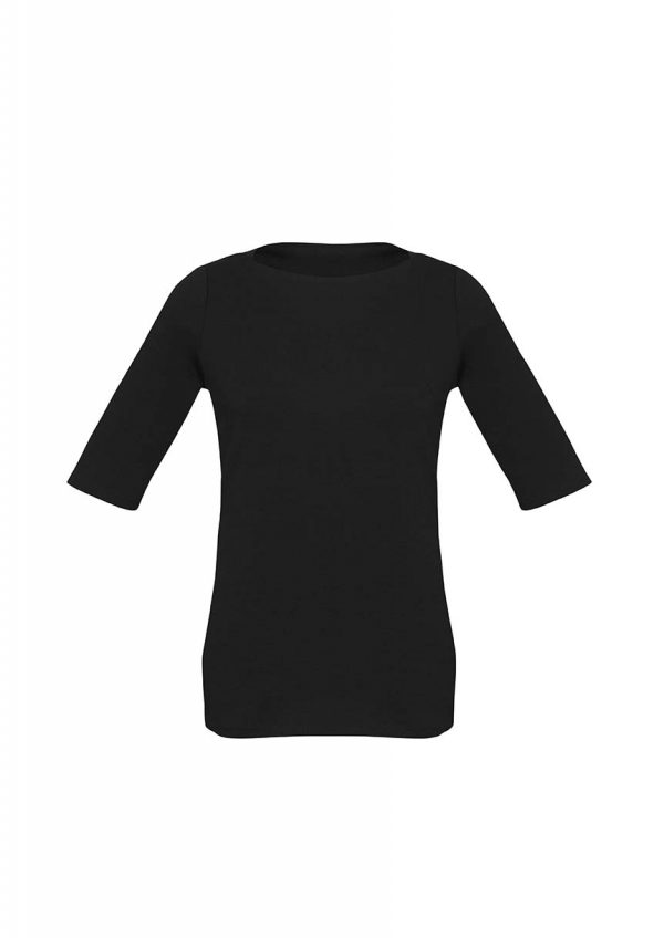 Womens Camille Short Sleeve T-Top - Black