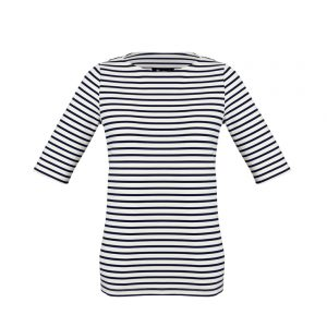 Womens Camille Short Sleeve T-Top - Dark Navy/Ivory