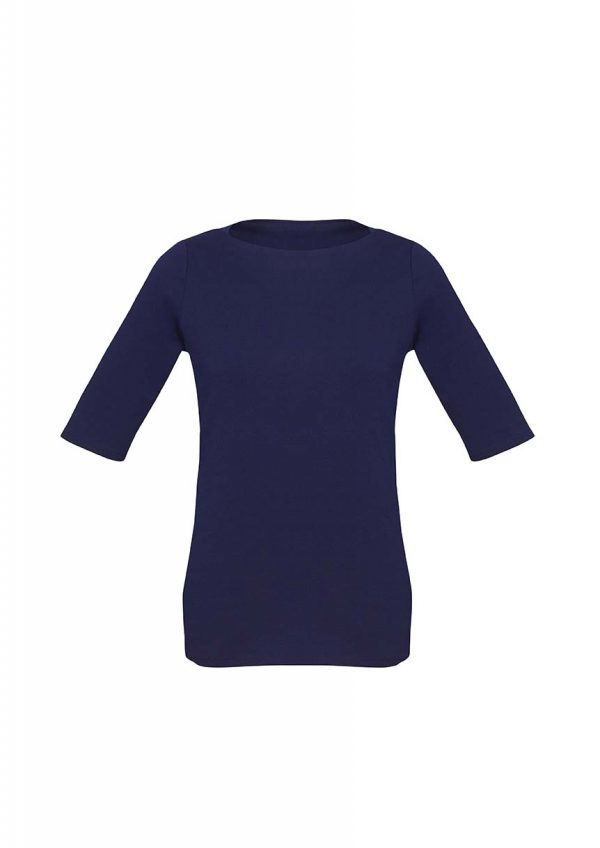 Womens Camille Short Sleeve T-Top - Navy