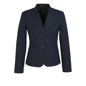 Womens Short Jacket with Reverse Lapel - Navy