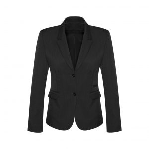 Womens 2 Button Mid Length Jacket - Black
