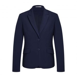Womens Two Button Mid Length Jacket - Marine
