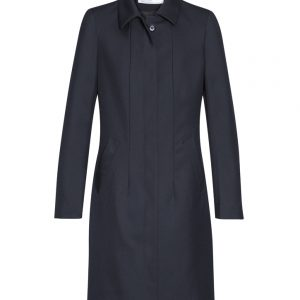 Womens Lined Overcoat - Midnight