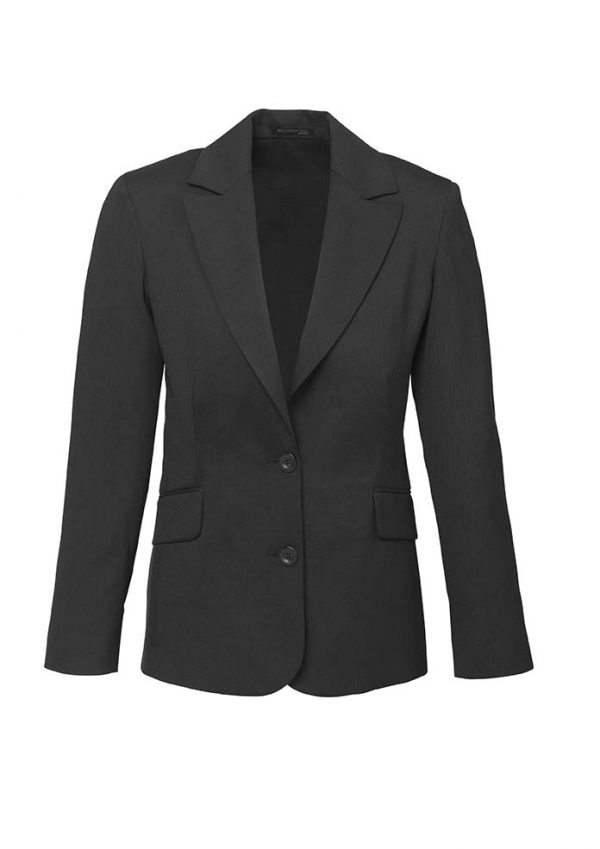 Womens Longline Jacket - Charcoal