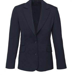 Womens Longline Jacket - Navy
