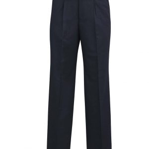 Mens One Pleat Pant Regular - Navy