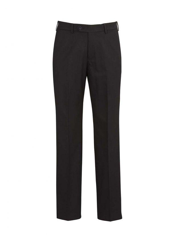 Mens Flat Front Pant Regular - Black