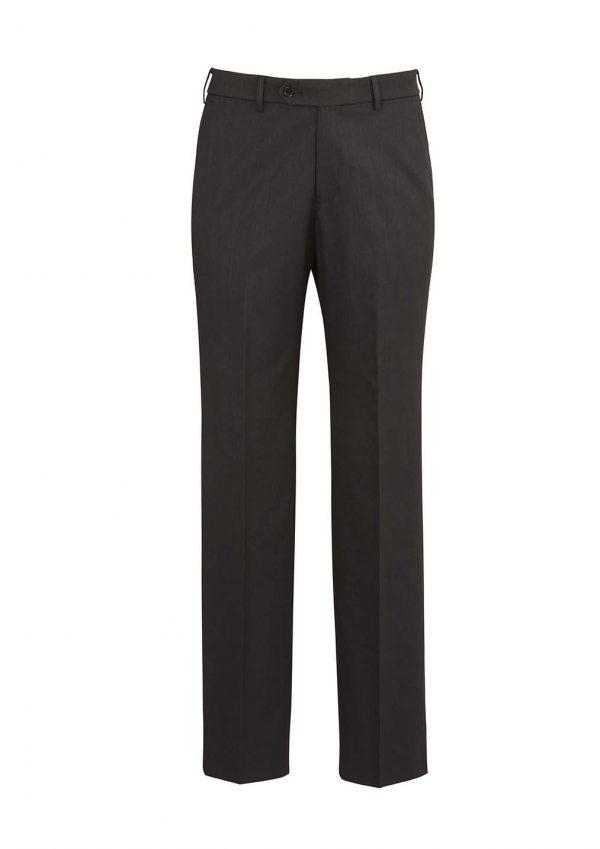 Mens Flat Front Pant Regular - Charcoal