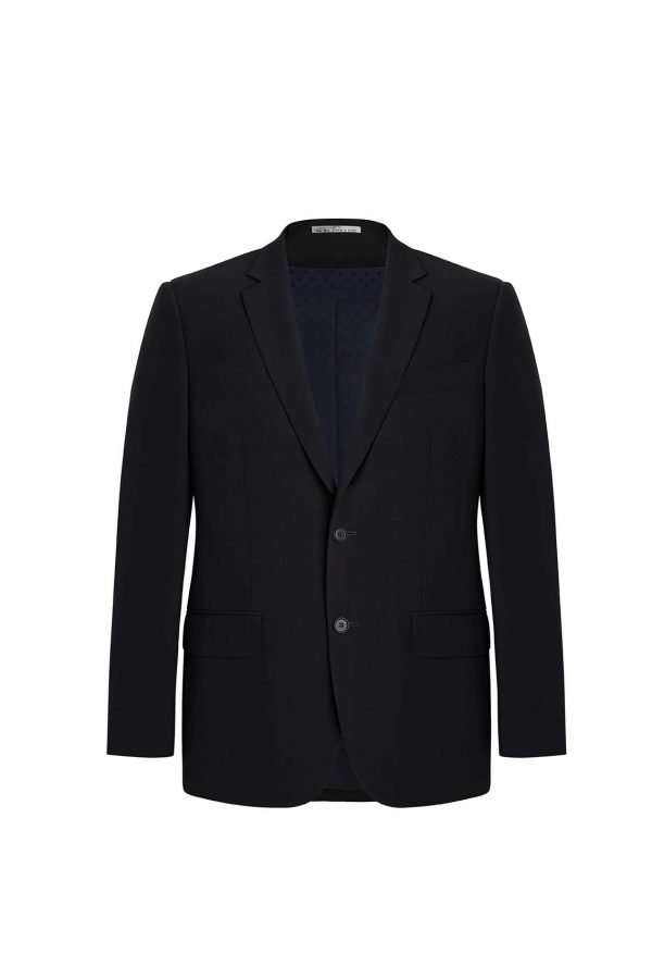 Mens City Fit Two Button Jacket - Black