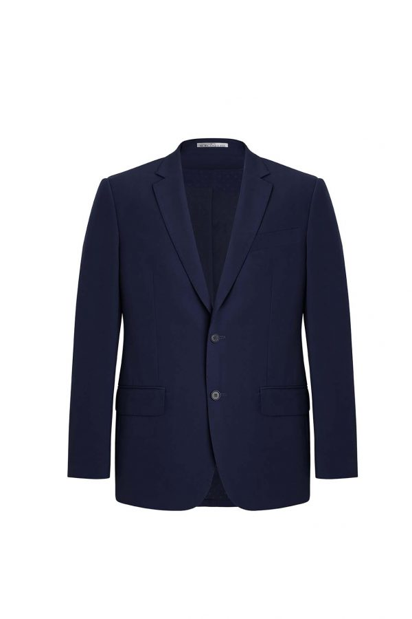 Mens City Fit Two Button Jacket - Marine