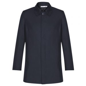 Mens Lined Car Coat - Midnight