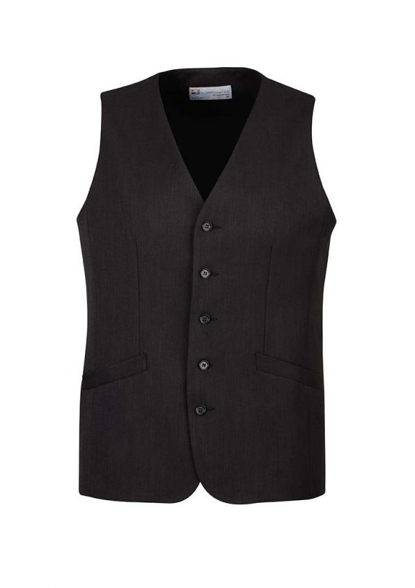Mens Longline Vest - Black