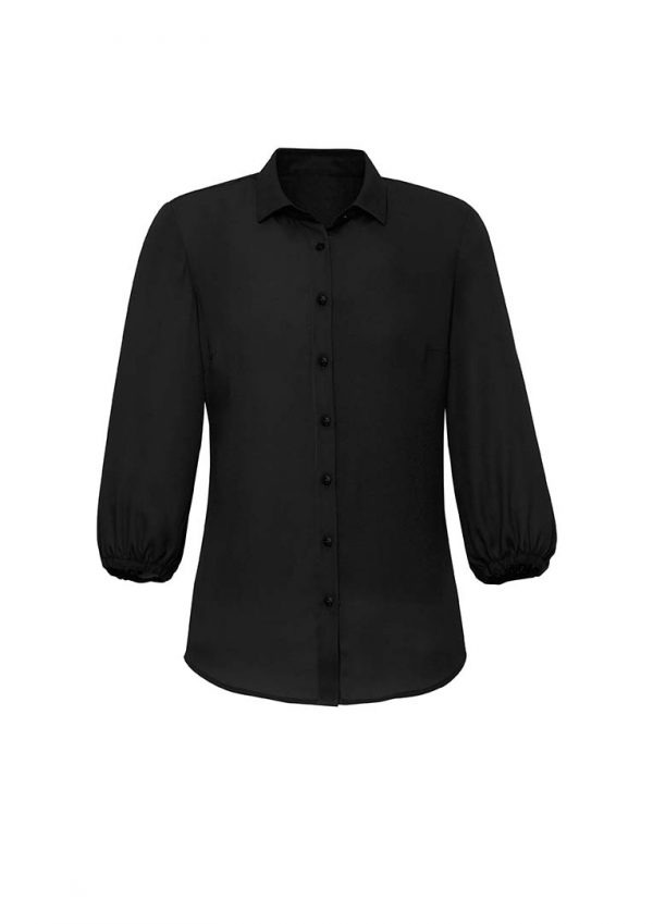 Womens Lucy 3/4 Sleeve Blouse - Black