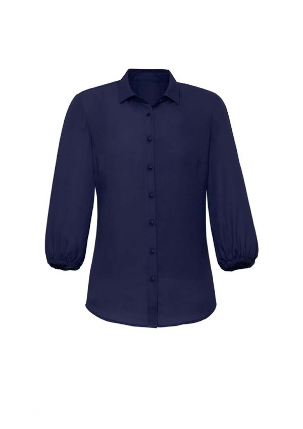 Womens Lucy 3/4 Sleeve Blouse - Navy