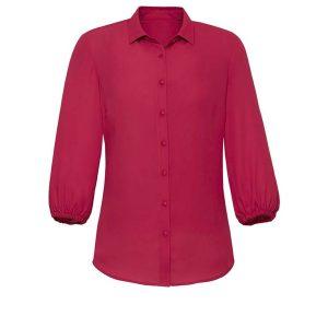 Womens Lucy 3/4 Sleeve Blouse - Raspberry
