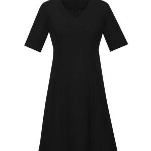 Womens Siena Extended Sleeve Dress - Black