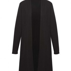 Womens Chelsea Long Line Cardigan - Black