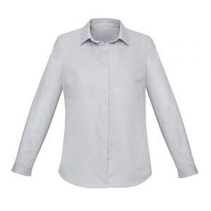 Womens Charlie L/S Shirt - Silver Chambray