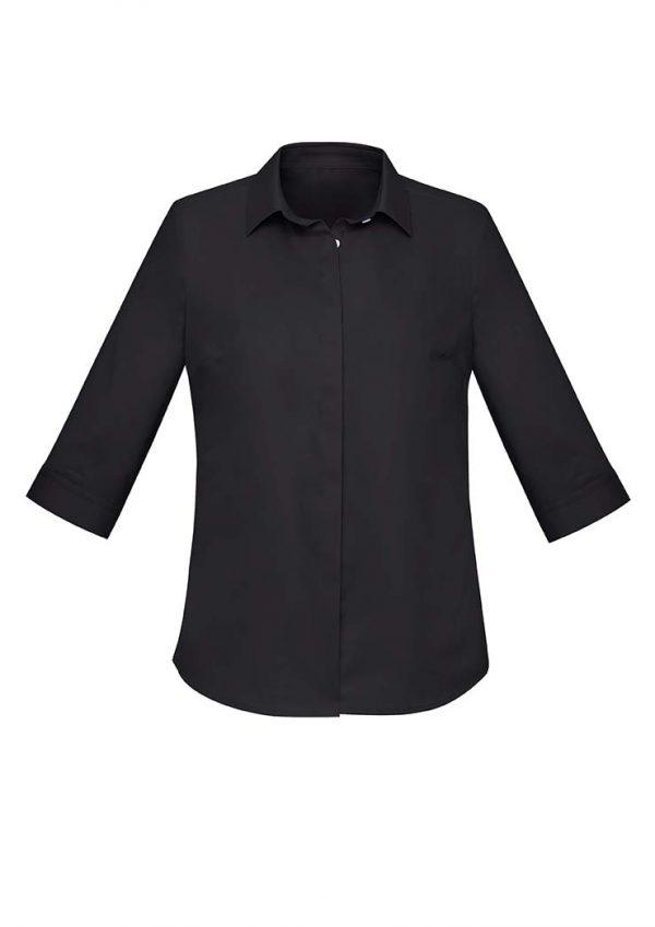 Womens Charlie 3/4 Shirt - Black