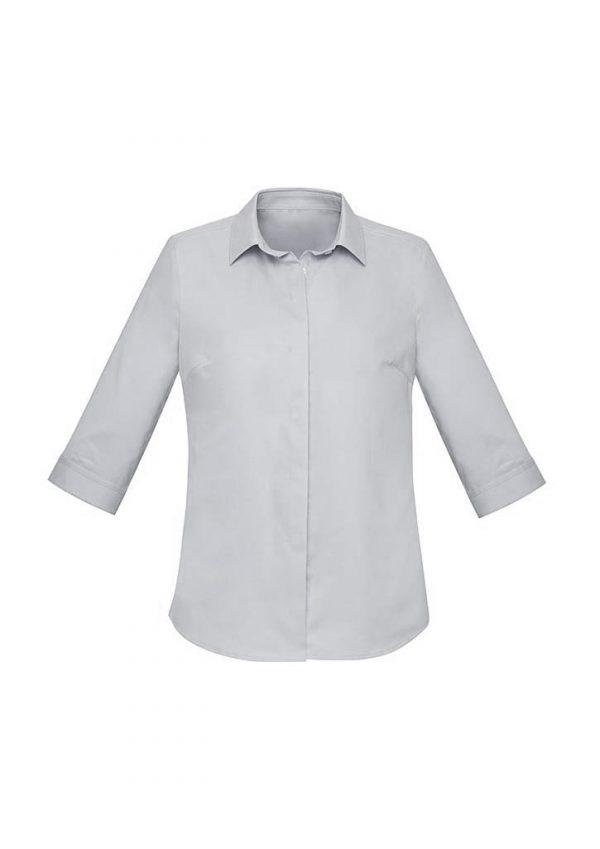 Womens Charlie 3/4 Shirt - Silver Chambray