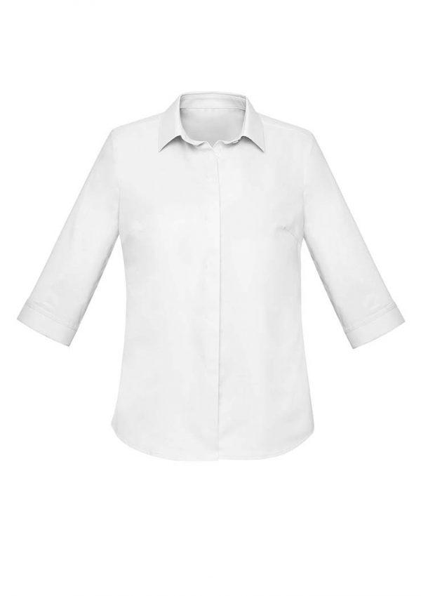Womens Charlie 3/4 Shirt - White