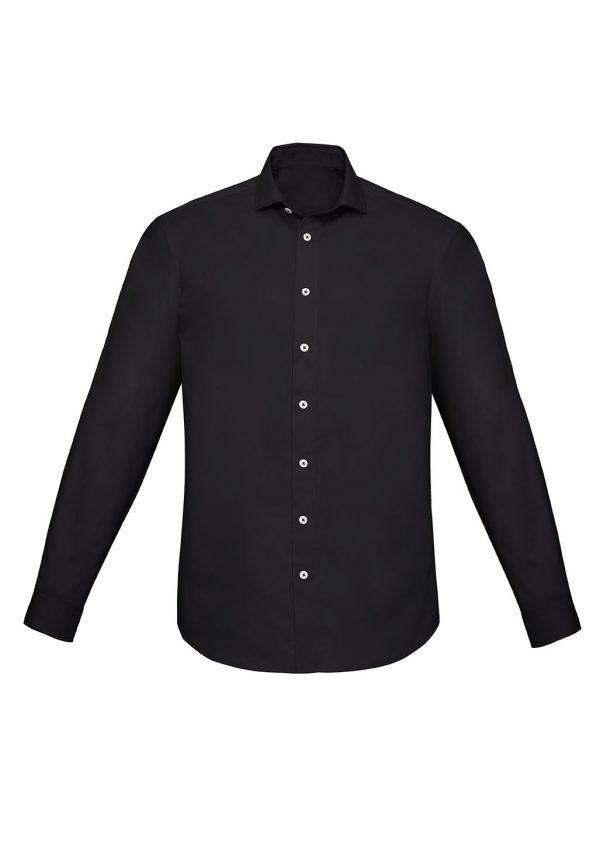Mens Charlie Slim Fit L/S Shirt - Black