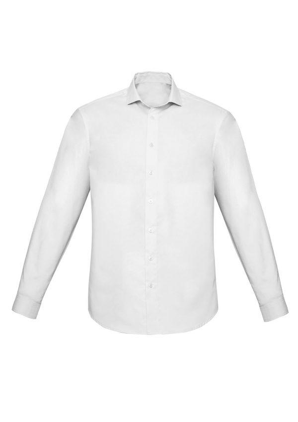 Mens Charlie Slim Fit L/S Shirt - White