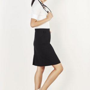 Comfort Waist Cargo Skirt - Black