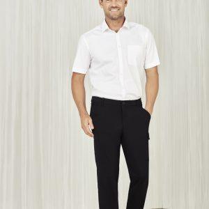 Mens Comfort Waist Cargo Pants - Black