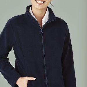 Ladies Plain Micro Fleece Jacket - Navy