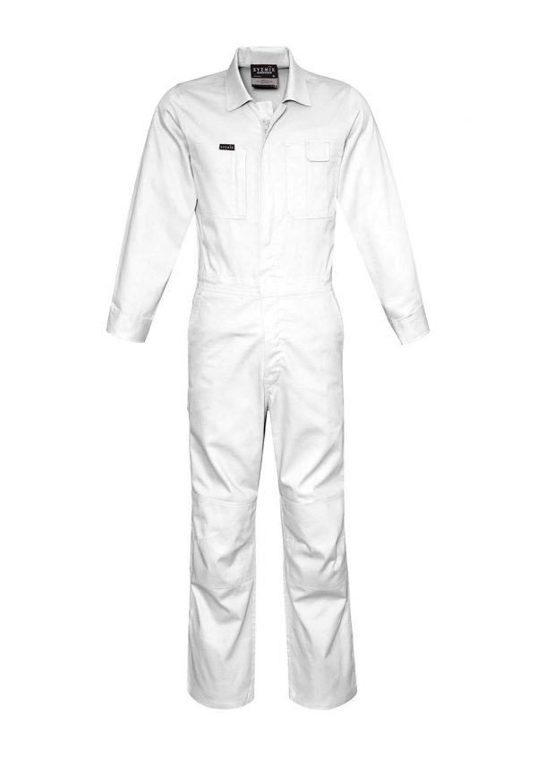 Mens Lightweight Cotton Drill Overall - White
